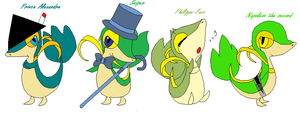 Some Snivy by Scourgethedestron
