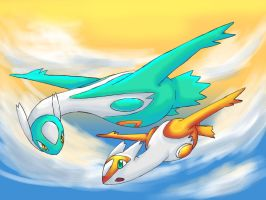 latios n latias by TheNoche