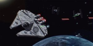 Star Wars Imperial Chase Scene 2D Commission by AdamKop