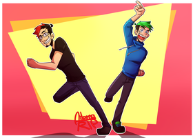 Mark and Jack! :D by xOtakuStarx