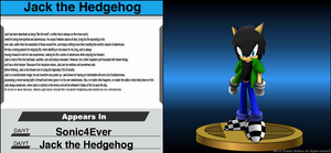 Wii-U Trophy Base with Jack by sonic4ever760