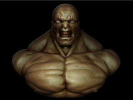Hulk Bust by snakes23