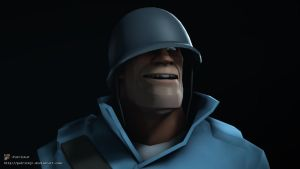 SFM Poster: Meet The Soldier -Blu- by PatrickJr