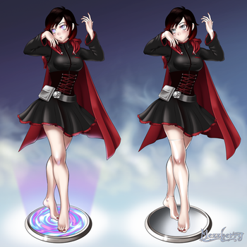 Commission: Ruby Hypnotized and Mannequinized by Mezzberry
