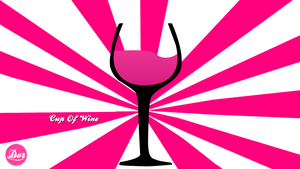 Cup Of Wine Vector Design. by DorGD