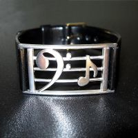 Bass Clef Bracelet by harlewood