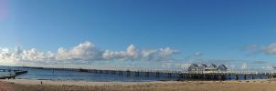 busselton jetty winter sun by kalascee