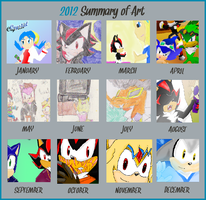 2012 Summary Of Art Meme MsLunarUmbreon by MsLunarUmbreon