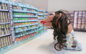 Hand Person at Supermarket by glassdrum