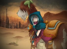 Yanna Traveling to the New City by DG-ART85