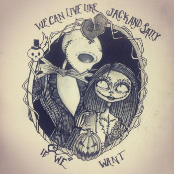 Jack and Sally by oxVictoriquexo