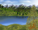Landscape #01 - Mountainous Lake by Pixel-Andy