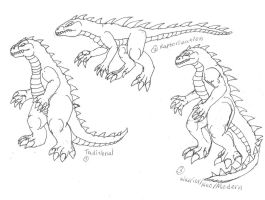 Kaiju Body Layouts by BehemothMaker