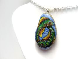 Pisces Zodiac Pendant Necklace 2 by sobeyondthis