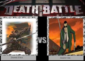 Deathbattle1: Snake Eyes vs Agent Six by Mr-Wolfman-Thomas