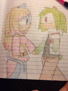 Sonlee x Chad (Art Trade/colored)  by ShadAmyfangirl129