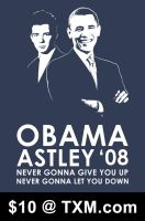 Obama and Astley '08 by KevinNuut