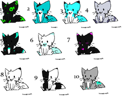 Feline Adoptables # 4 (One Point) THREE MORE LEFT by LoveMoonspirit