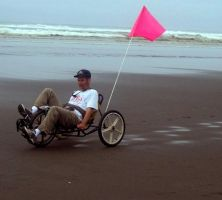 Beach Tricycle Man by Photos-By-Michelle