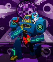 Soundwave and Vinyl Scratch Rocks by dragona