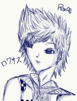 Roxas - Into the blue by Ice-Chrome