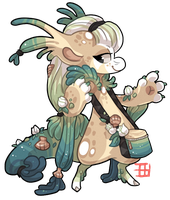 #406 Biome Bagbean - White rose Beach - AUCTION by griffsnuff