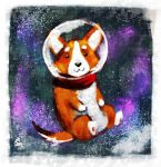 Space Corgi by NicoleWest