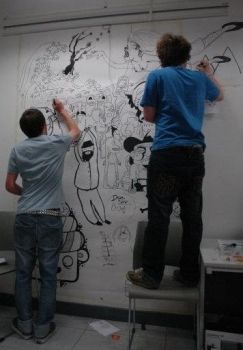 Studio Wall Drawing - ID by NotFinished