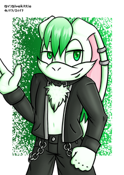Cool Bunny by BluekittieArtStuffs