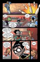 Teen Titans Go Page 1 by DerekHunter