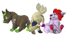 Art Trade - Tamakis Puppys by TheMiles