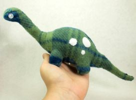 Blue and Green Plaid Dino Plush by BeeZee-Art