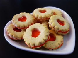 Take my heart - Strawberry cookies by Elaiss-in-iceland