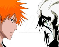 Ichigo vs. Ulquiorra by TOPCAT91