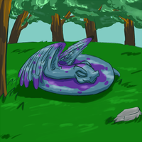Neopets Sleeping Hissi by dyaoka