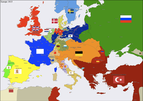 Europe 1815 by Hillfighter