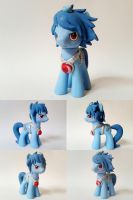 Techno Blue OC G4 Custom Pony by Oak23
