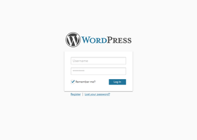 Wordpress 4.0 Login Concept by xaviermartinezf