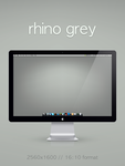rhino grey wallpaper by 1nteresting