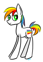 Gay Pride Pony by Winter-Hooves