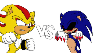 WIP sonic.EXE vs Super Shadow by WTFIsoPsycho