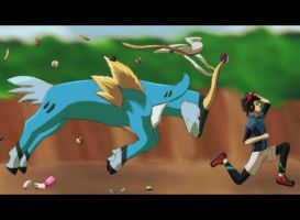 Cobalion used Pursuit! by NightAuctor