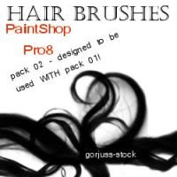 PSP8 HAIR brush pack 02 by gorjuss-stock