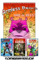 Armless Bear MAD as BEES by JackHook