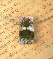 Ethereal Tree of Life Fused Glass Pendant by FusedElegance