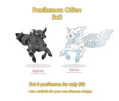 Ponikemon 3x2 Offer by MySweetQueen