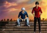 Sunset in Edo - Gintama by Jeannette11