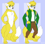 [Com] Miles Yellow (Anthro) by MileyMouse