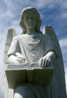 Mount Olivet Cemetery Archangel Uriel 262 by Falln-Stock