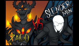 Zalgo Vs. Slenderman by Kastoway